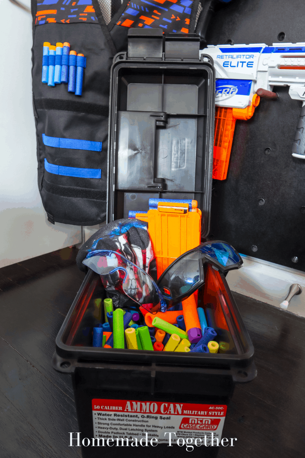 A Step By Step Guide On How To Build A Nerf Gun Wall Homemade Together